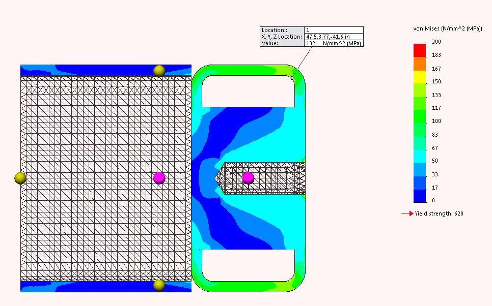 Cavotech MoorMaster baseframe analysis
