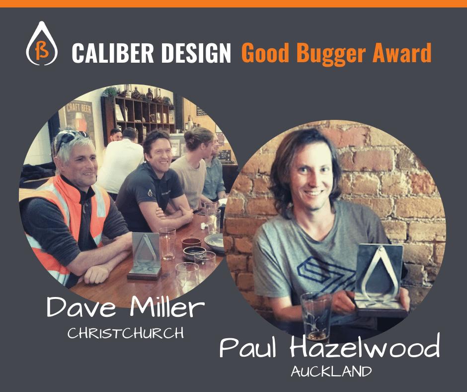 Caliber Good Bugger Awards